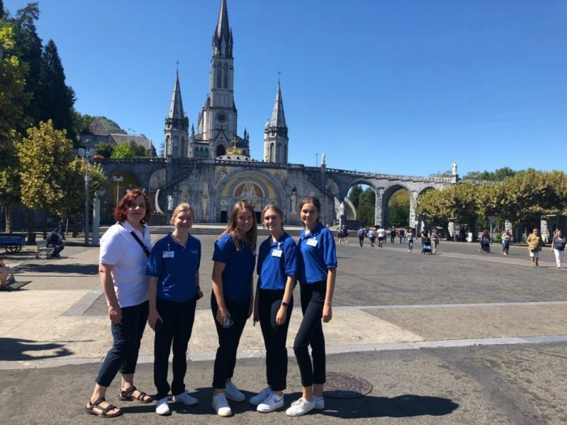Teresian 6th year students in Lourdes