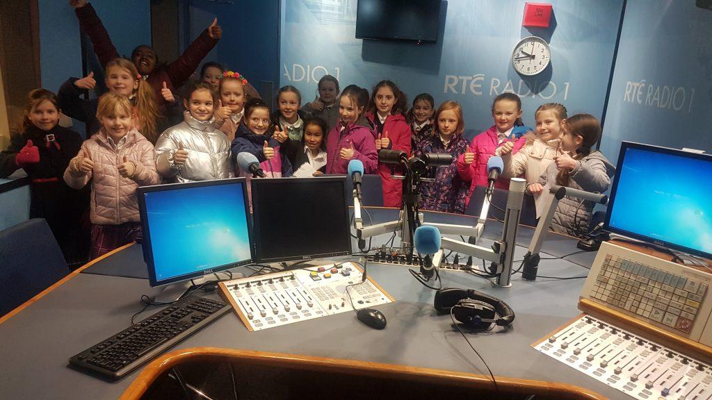 Teresian class 3 at RTE radio studio