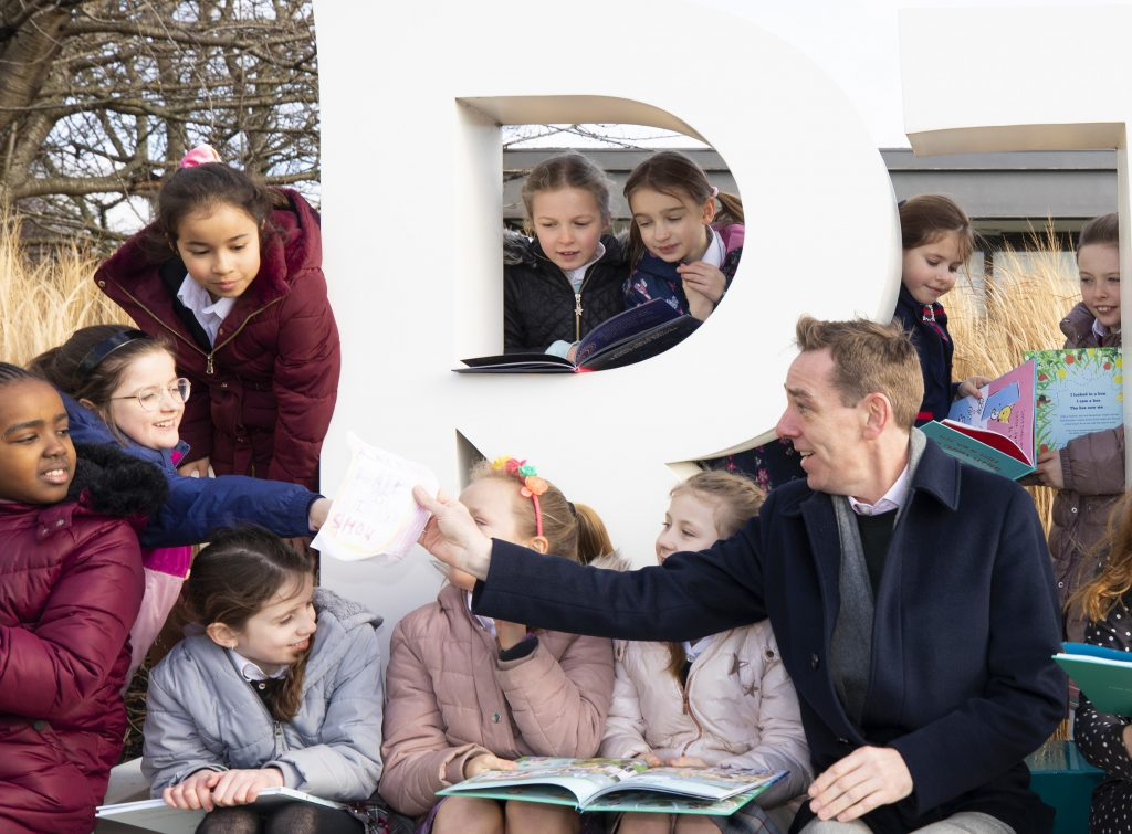 Teresian school class 3 at RTE with Ryan Tubridy.