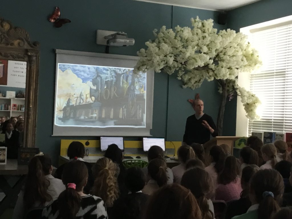 David Wiesner visit to the Teresian School